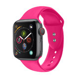 Promate Silicone Apple Watch 38mm/40mm Strap, Adjustable Silicone Sport Strap w/ Dual Lock Pin for Apple Watch SR:1,2,3 and 4 S/M Size-  Outdoor- Pink