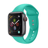 Promate Silicone Apple Watch 38mm/40mm Strap, Adjustable Silicone Sport Strap & Dual Lock Pin for Apple Watch SR:1,2,3 and 4 M/L- Outdoor- Turquoise