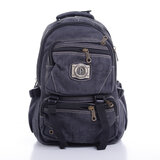 Para John 18'' Canvas Leather Backpack - Comfortable Lightweight Travel Hiking Picnic Camping Backpack - College School Rucksack Bag