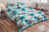 PARRY LIFE Quilt Cover Set - Duvet Cover Set, 4 Pc ñ Flat Sheet, Quilt Cover, & 2 Standard Pillow cases Set  240x260 cm