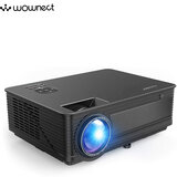 Wownect M5 4000 Lumens Home Theater Projector 3D Display HD Projector w/ AV, VGA, USB, HDMI - Black
