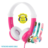 BuddyPhones - Connect On-Ear Wired Headphones Pink