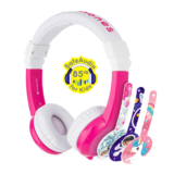 BuddyPhones - Unicorn Foldable with Mic Pink