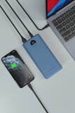 Powerology Quick Charge Power Bank 30000Mah Pd 45W With Type-C To Type-C Cable 0.9M - Blue