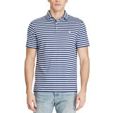 Polo Ralph Lauren Mens Classic-Fit Soft-Touch Striped Polo Blue Extra Large (Xl)