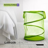 Royalford Cloth Hamper   Pop-Up Collapsible Mesh Laundry Hamper, Solid Polyester Bottom of Laundry Basket, Convenient Carrying Handles on Laundry Bin