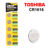 Toshiba CR1616 3V Lithium Coin Cell Battery One Pack of 5 batteries