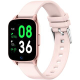 Wownect Smartwatch Waterproof Sports Fitness Tracker with Heart Rate Blood Pressure Monitor Sleep Tracker Motion Monitoring Reminder calls Pedometer App Notifications (Supports Android & iOS) - Pink