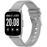 Wownect Smartwatch Waterproof Sports Fitness Tracker with Heart Rate Blood Pressure Monitor Sleep Tracker Motion Monitoring Reminder calls Pedometer App Notifications (Supports Android & iOS) - Grey