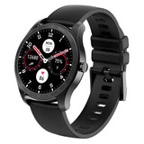 Wownect KW11 AMOLED 1.2'' Touch Screen IP68 Waterproof Smartwatch Fitness Tracker with Multi-Sport Mode Heart Rate Sensor Pedometer Compass Real Time Notification Sync For Android & iOS - Black