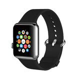 Promate Silicone Watch Strap, Premium Silicone Quick Release Soft Rubber Replacement Apple Watch 38mm/40mm Band for Apple SR:1/2/3/4- Black