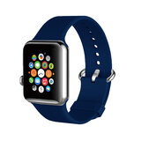 Promate Silicone Watch Strap, Premium Silicone Quick Release Soft Rubber Replacement Apple Watch 38mm/40mm Band  for Apple SR: 1/2/3/4 -Blue