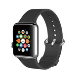 Promate Silicone Watch Strap, Premium Silicone Quick Release Soft Rubber Replacement Apple Watch 38mm/40mm Band for Apple SR:1/2/3/4- Grey