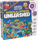 Happy Puzzle SNAKES AND LADDERS UNLEASHED - Colorful Indoor Board Classic Game with twist of Modern