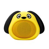 Promate Bluetooth Speaker, Portable Wireless Kids Bluetooth V4.1 Speaker with HD Sound Quality, Hands-free call function & Dog Design - Yellow