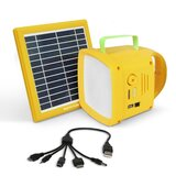 Promate Solar Panel Led Light, 3-In-1 Outdoor Bright 90Lm Led Light With Solar Panel, Wireless Speaker, 4400Mah Power Bank  Port For Outdoor