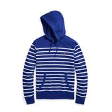 Polo Ralph Lauren Mens Striped French Terry Hoodie In Heritage Royal/White Extra Large (XL)