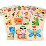 Animal Fruit Vehicle Wooden Puzzle 4 PC in pack  Multicolor