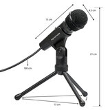 Promate  Condenser Microphone, 3.5mm Connector Stereo Multimedia Condenser Vocal Microphone Stand for Laptop, PC, Digital Voice Recorder PC, Tweeter-9
