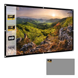 Wownect Anti-Light 120-Inch Projector Screen Roll 16:9 Anti-Crease Outdoor Indoor Portable Projector Screen For Home Theater Projection [Support Full HD, 4K ] Screen for Office Presentation