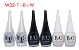 B.O. 6-Piece Top Coat Nail Lacquer Set Tin/Black/White