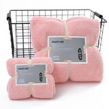 DEALS FOR LESS - 2 Piece Microfiber Bath Towel Set,  Peach Color