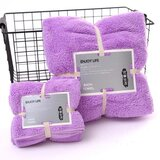 DEALS FOR LESS - 2 Piece Microfiber Bath Towel Set,  Lilac Color