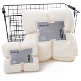 DEALS FOR LESS - 2 Piece Microfiber Bath Towel Set,  Rice White Color