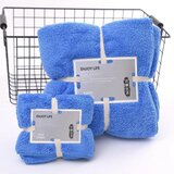 DEALS FOR LESS - 2 Piece Microfiber Bath Towel Set,  Blue Color