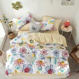DEALS FOR LESS  - Single Size, Duvet Cover , Bedding Set of 4 Pieces, Floral Design
