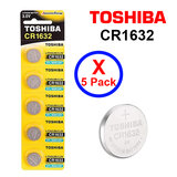 Toshiba CR1632 3V Lithium Coin Cell Battery fIVE Pack of 5 batteries