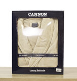 CANNON - Super Soft and Absorbent 100% Cotton Collar Bathrobe S/M  - 380GSM - Beige