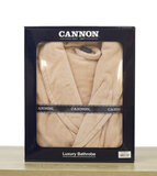 CANNON - Super Soft and Absorbent 100% Cotton Collar Bathrobe S/M - 380GSM - Old Rose