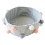 A'ish Home Grey Woven Basket (Large)