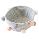 A'ish Home Grey Woven Basket (Small)