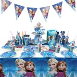 Brain Giggles Frozen Theme Disposable Tableware 16 items/set for 10 people  (136 pieces)