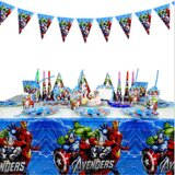 Brain Giggles Avengers Theme Disposable Tableware 16 items/set for 10 people  (136 pieces)