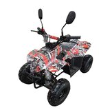 MYTS ATV Off-road Fuel Quad Bike 110 CC Black And Red Camouflage