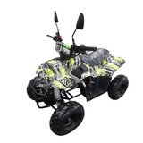 MYTS ATV Off-road Fuel Quad Bike 110 CC Black And Yellow Camouflage