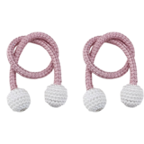 Deals For Less -2 Pieces Magnetic Curtain Holder ,Pink With Pearl Design.