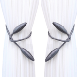 Deals For Less -2 Pieces Curtain Holder Tieback, Silver Color.