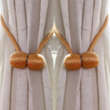 Deals For Less -2 Pieces Magnetic Curtain Holder , Light Brown Color.