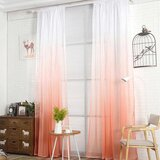 Deals For Less - Peach Color Ombre Sheer, Set Of 2 Pieces.