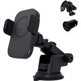 Powerology Fast-Wireless Universal Magsafe Mount 7.5W/15W Automatic Grip And Touch Release