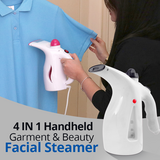4 In 1 Handheld Multi-Color Garment & Beauty Facial Steamer 200Ml