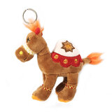 Cuddly Soft Toy Brown Camel With Bright Detailed Embroidery With Key Rin,  Size 12cm