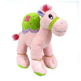 Cuddly Soft Toy Pink Camel With Bright Detailed Embroider,  Size 25cm