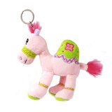 Cuddly Soft Toy Pink Camel With Bright Detailed Embroidery With Key Rin,  Size 12cm