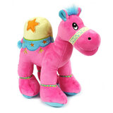 Cuddly Soft Toy Dark Pink Camel With Bright Detailed Embroider,  Size 25cm