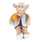 Cuddly Soft Toy Charlie  Camel With Blue Shorts And Waistcoa,  Size 28cm